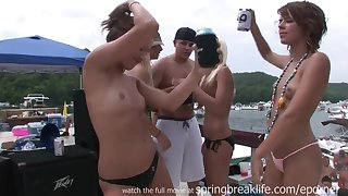 Unrestrained Party Girls On The Lake - lewd students